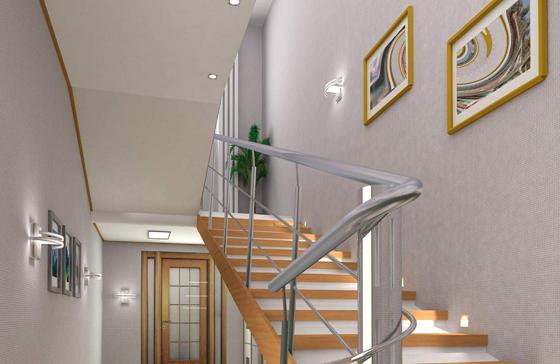 Sử dụng đèn LED để chiếu sáng cầu thang