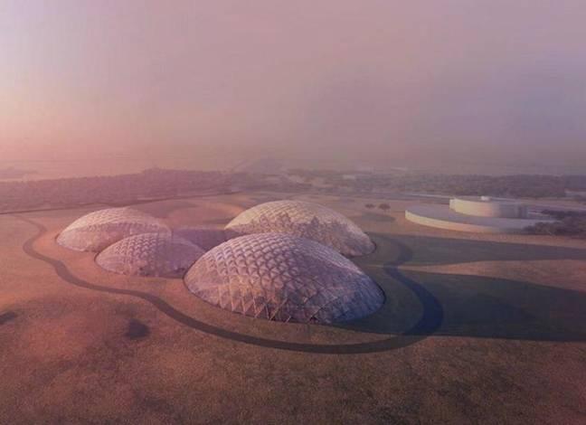 UAE sẽ xây dựng một khu thuộc địa gồm các nhà vòm trên sa mạc để thử nghiệm cho dự án đưa người lên sao Hỏa
