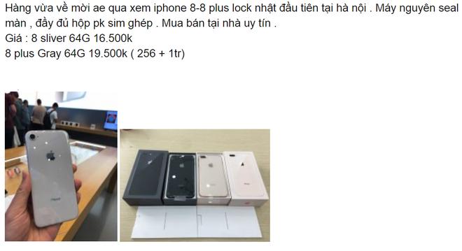 iPhone 8 và 8 Plus Lock được rao bán