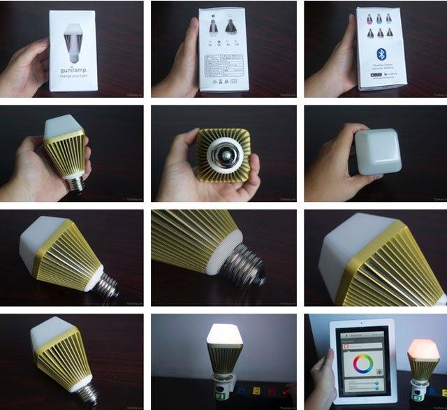 Bóng đèn LED thông minh Gunilamp có thể điều khiển bằng Bluetooth