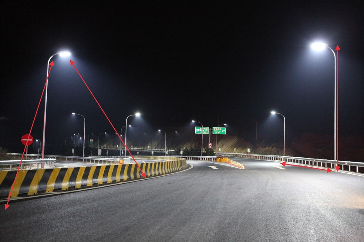 Đèn đường LED ánh sáng