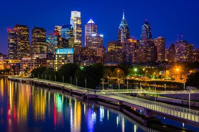Quang cảnh đêm Philadelphia
