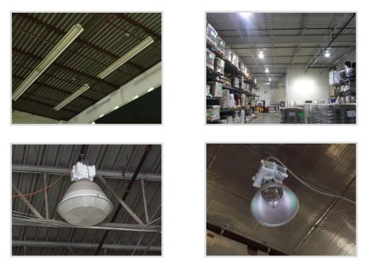 Ví dụ đèn High Bay và Low Bay