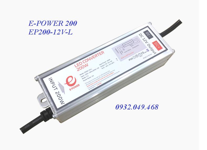 NGUỒN E-POWER 200W,  EP200-12V-L