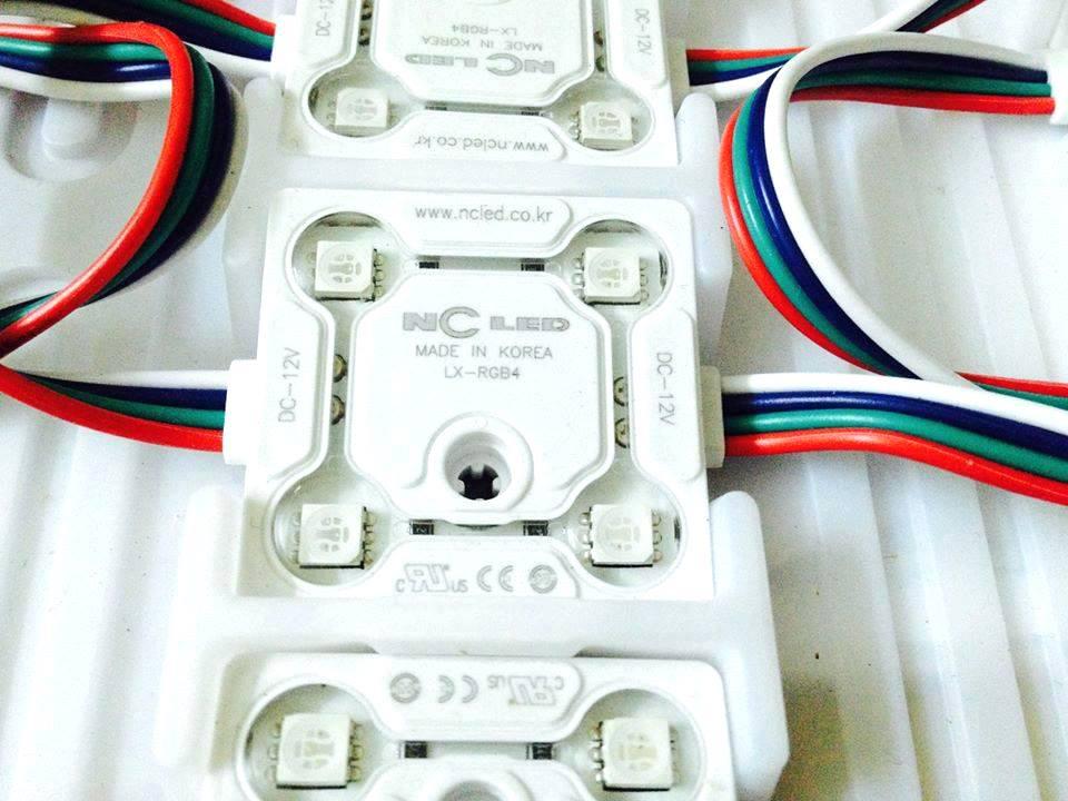 LED MODULE ĐA SẮC LX-RGB4 CHIP LED DKI 5050