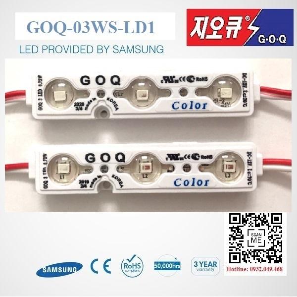 ĐÈN LED MODULE 3 BÓNG MÀU XANH DƯƠNG HIỆU GOQ | Mã: GOQ-03BD-L1-SE2835