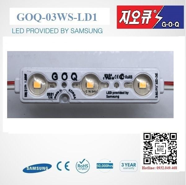 ĐÈN LED MODULE 3 BÓNG SAMSUNG 2835 HIỆU GOQ / Mã: GOQ-03WWS-LD1-SS2835