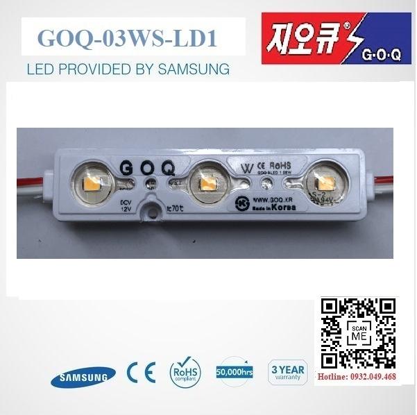 ĐÈN LED MODULE 3 BÓNG SEOUL MÀU VÀNG HIỆU GOQ | Mã: GOQ-03WWK-LD1-SE2835