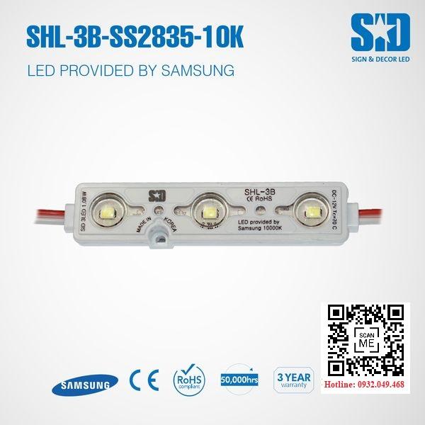 ĐÈN LED MODULE 3 BÓNG SAMSUNG 2835 HIỆU SID   Mã: SHL-3B-SS2835-10K