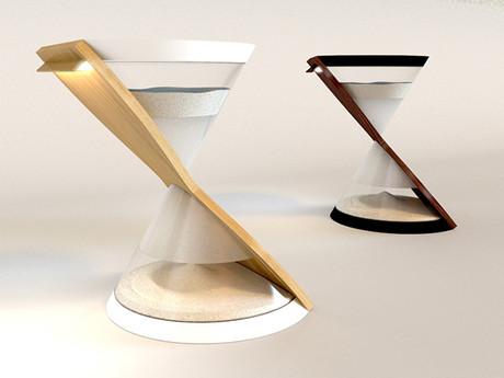 Chiếc đèn LED có hình dáng đồng hồ cát của Danielle Trofe