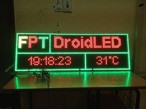 Sinh viên trường FPT làm đèn LED kết nối với Facebook